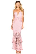 Lovers + Friends Spring Tide Gown in Light Pink