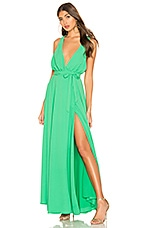 Lovers + Friends Leah Gown in Light Green