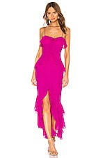 Lovers + Friends Melissa Gown in Magenta