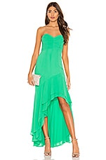 Lovers + Friends Confetti Gown in Light Green
