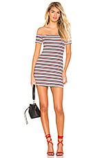 Lovers + Friends Indy Mini Dress in Navy Stripe