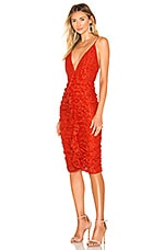 Lovers + Friends Sylvia Midi Dress in Deep Coral