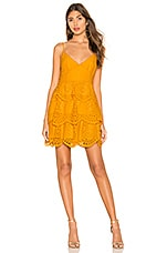 Lovers + Friends Doreen Mini Dress in Mustard