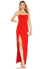 Lovers + Friends Winston Gown in Red