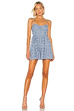 Lovers + Friends Tinsley Mini Dress in Dusty Blue