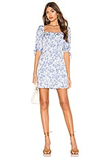 Lovers + Friends Collins Mini Dress in French Blue