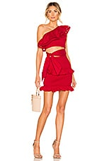 Lovers + Friends Penn Mini Dress in Strawberry