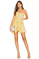 Lovers + Friends Abby Mini Dress in Sun Yellow
