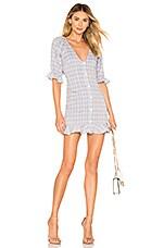 Lovers + Friends Priscilla Mini Dress in Blue Breeze