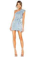 Lovers + Friends Seana Mini Dress in White & Blue