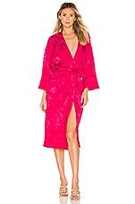 Lovers + Friends Bali Kimono Dress in Hot Pink