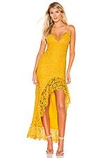 Lovers + Friends Shandi Gown in Mustard Yellow