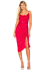 Lovers + Friends Lia Midi Dress in Hot Pink