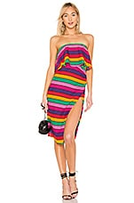Lovers + Friends Valerie Midi Dress in Miami Lights Stripe