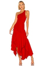 Lovers + Friends Nolan Gown in Fiery Red
