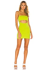 Lovers + Friends Delia Mini Dress in Neon Green