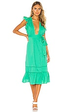 Lovers + Friends Zane Midi Dress in Kelly Green