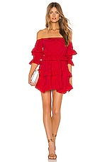 Lovers + Friends Palmer Mini Dress in Cherry Red