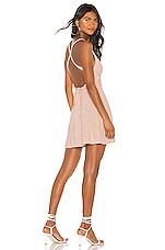 Lovers + Friends Ken Mini Dress in Shell Pink