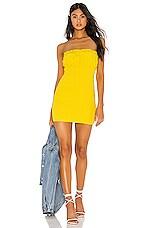 Lovers + Friends Mabel Mini Dress in Neon Yellow