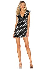 Lovers + Friends Carly Dress in Black Dot