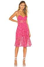 Lovers + Friends Angela Midi Dress in Hot Pink