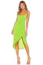 Lovers + Friends Noah Wrap Dress in Lime Green