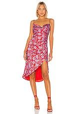 Lovers + Friends Noah Wrap Dress in Red & Purple Floral