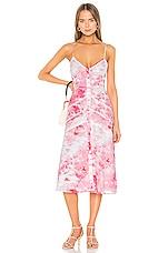 Lovers + Friends Alexa Midi Dress in Poppy Tie Dye