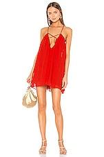 Lovers + Friends Titan Mini Dress in Blood Orange