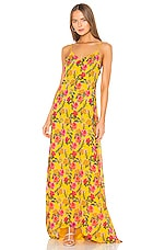 Lovers + Friends The Slip Dress in Yellow Garden