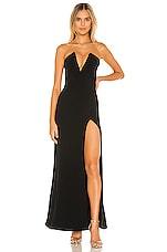Lovers + Friends Fabiola Gown in Black