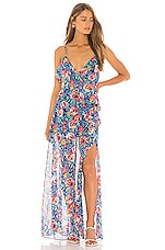Lovers + Friends Darcy Maxi Dress in Rose Garden Floral