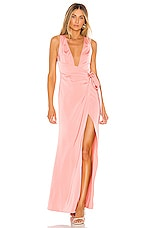 Lovers + Friends Chichira Gown in Pink