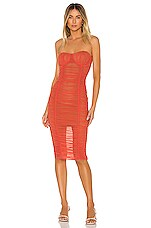 Lovers + Friends Jerry Midi Dress in Coral Red