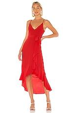 Lovers + Friends Bridget Midi Dress in Red