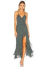 Lovers + Friends Gelina Dress in Teal Dot