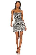 Lovers + Friends Brie Dress in Black & White Zebra