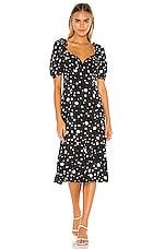 Lovers + Friends Dennis Midi Dress in Black Polka Dot