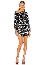 Lovers + Friends Dexter Mini Dress in Black Polka Dot