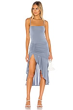 Lovers + Friends Aniyah Midi Dress in Hydrangea Blue
