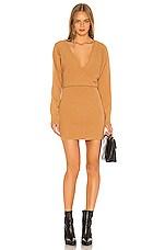 Lovers + Friends Sweater Dress in Camel