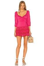 Lovers + Friends Aella Mini Dress in Red & Pink