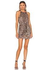 Lovers + Friends Nolan Mini Dress in Metallic Leopard