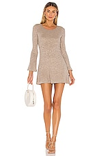 Lovers + Friends Gisella Sweater Dress in Cobblestone Taupe