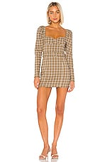 Lovers + Friends Jacob Mini Dress in Olive Plaid