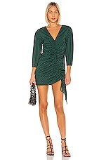 Lovers + Friends Hayden Mini Dress in Dark Green