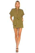 Lovers + Friends Kaine Mini Dress in Army Green