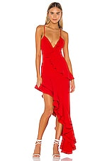 Lovers + Friends Riya Gown in Red