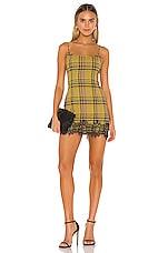 Lovers + Friends Keats Mini Dress in Yellow Plaid